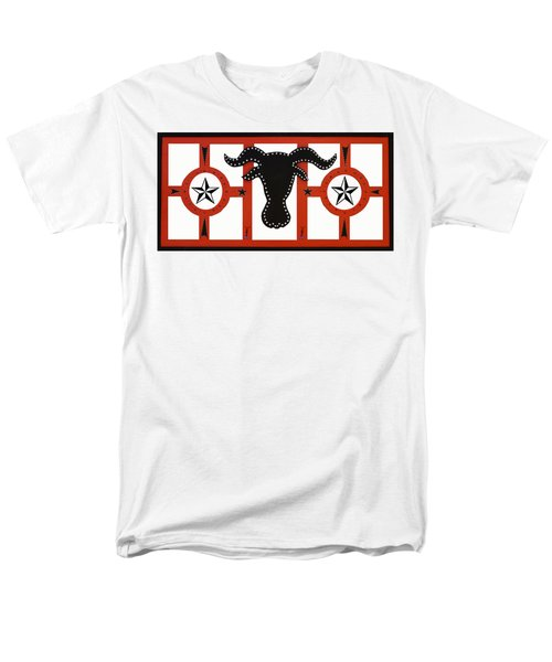 Men's T-Shirt  (Regular Fit) featuring the mixed media Horn Time In Texas by Robert Margetts
