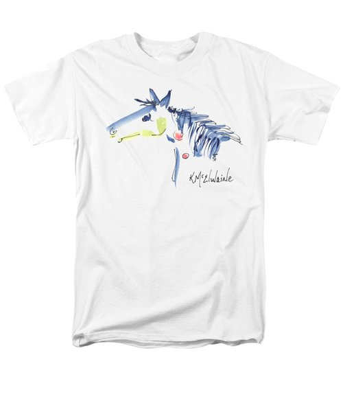 Horse Of A Different Color Men's T-Shirt  (Regular Fit) by Kathleen McElwaine