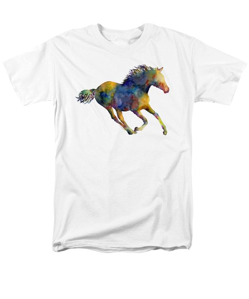 Men's T-Shirt  (Regular Fit) featuring the painting Horse Running by Hailey E Herrera