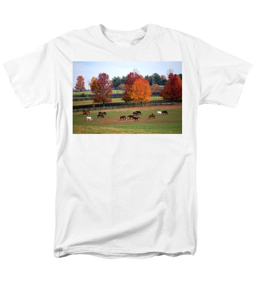 Horses Grazing In The Fall Men's T-Shirt  (Regular Fit) by Sumoflam Photography