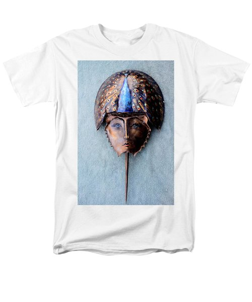 Horseshoe Crab Mask Peacock Helmet Men's T-Shirt  (Regular Fit)