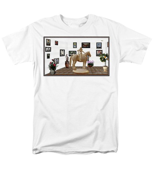 Virtual Exhibition -statue Of Horsewoman 12 Men's T-Shirt  (Regular Fit) by Pemaro