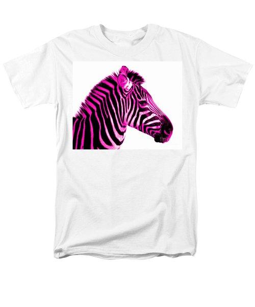 Hot Pink Zebra Men's T-Shirt  (Regular Fit)
