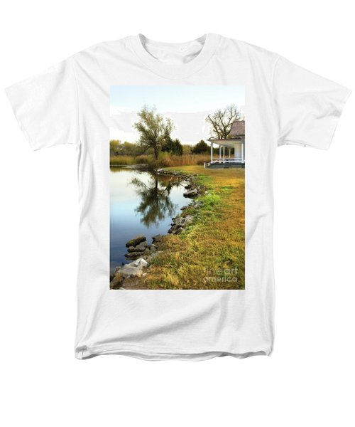 House By The Edge Of The Lake Men's T-Shirt  (Regular Fit) by Jill Battaglia