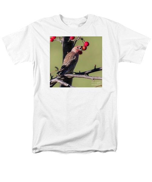 House Finch Vs Crabapple  Men's T-Shirt  (Regular Fit) by Ricky L Jones