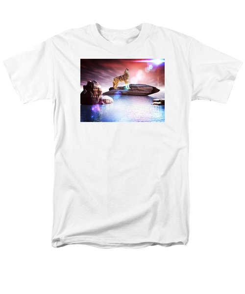 Men's T-Shirt  (Regular Fit) featuring the digital art Howling Wolf Lomo by Jacqueline Lloyd