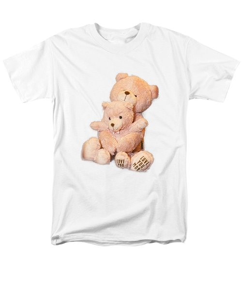 Men's T-Shirt  (Regular Fit) featuring the photograph Hugging Bears Cut Out by Linda Phelps