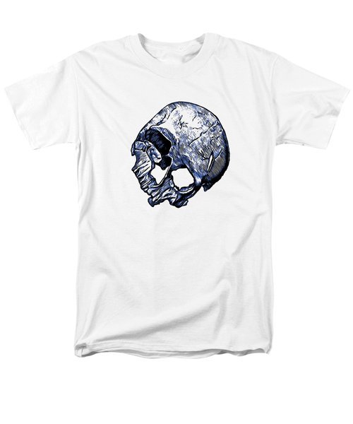 Human Skull Men's T-Shirt  (Regular Fit) by Tracey Harrington-Simpson