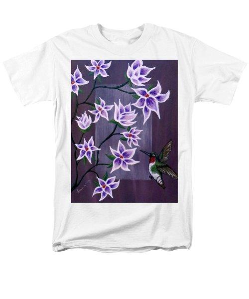 Hummingbird Delight Men's T-Shirt  (Regular Fit) by Teresa Wing