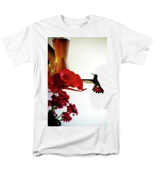 Hummingbird In Tulua, Colombia Men's T-Shirt  (Regular Fit) by Al Bourassa
