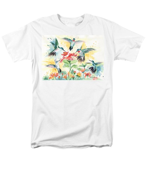 Hummingbirds Party Men's T-Shirt  (Regular Fit) by Melly Terpening