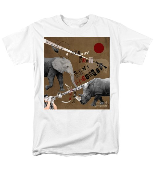 Hunt Wildlife Poachers Men's T-Shirt  (Regular Fit) by Nola Lee Kelsey
