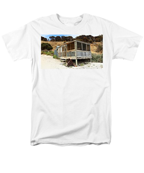 Men's T-Shirt  (Regular Fit) featuring the photograph Hut At Western River Cove by Stephen Mitchell