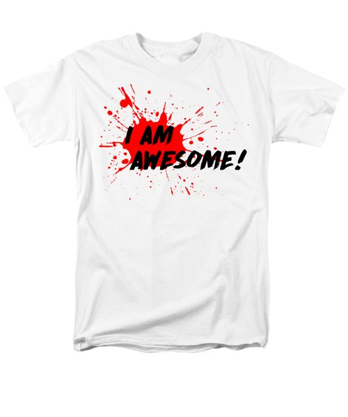 Men's T-Shirt  (Regular Fit) featuring the photograph I Am Awesome - Light Background Version by Menega Sabidussi