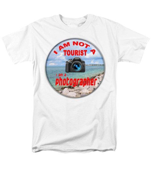 I Am Not A Tourist Men's T-Shirt  (Regular Fit) by Bob Slitzan