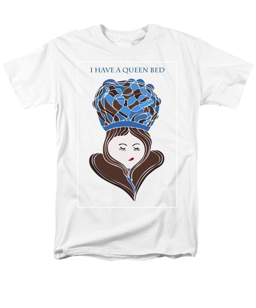 Men's T-Shirt  (Regular Fit) featuring the drawing I Have A Queen Bed by Frank Tschakert
