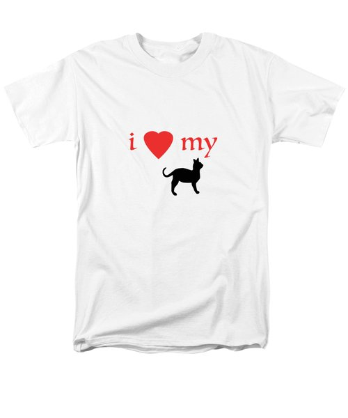 I Heart My Cat Men's T-Shirt  (Regular Fit) by Bill Owen