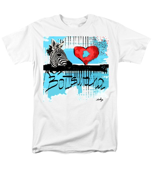 I Love Botswana  Men's T-Shirt  (Regular Fit) by Sladjana Lazarevic