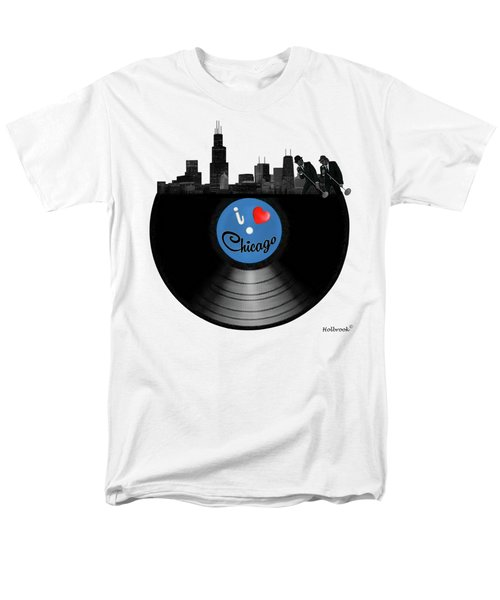I Love Chicago Men's T-Shirt  (Regular Fit) by Glenn Holbrook
