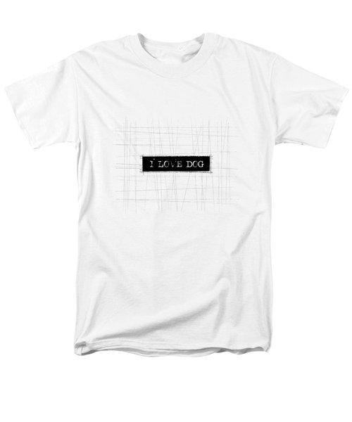 I Love Dog Word Art Men's T-Shirt  (Regular Fit) by Kathleen Wong