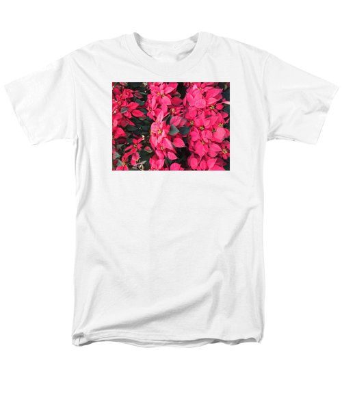 Men's T-Shirt  (Regular Fit) featuring the photograph I Love Poinsettias by Kay Gilley