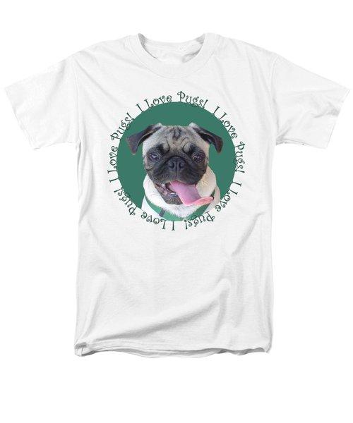 I Love Pugs Men's T-Shirt  (Regular Fit) by Patricia Barmatz