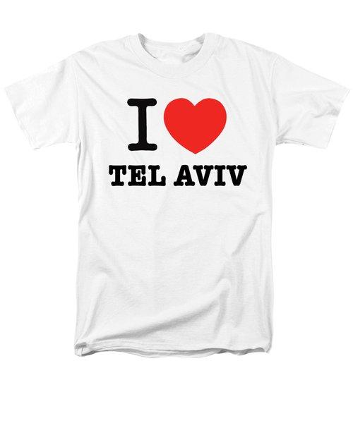 Men's T-Shirt  (Regular Fit) featuring the photograph i love Tel Aviv by Ron Shoshani