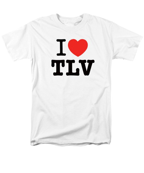 Men's T-Shirt  (Regular Fit) featuring the photograph i love TLV by Ron Shoshani