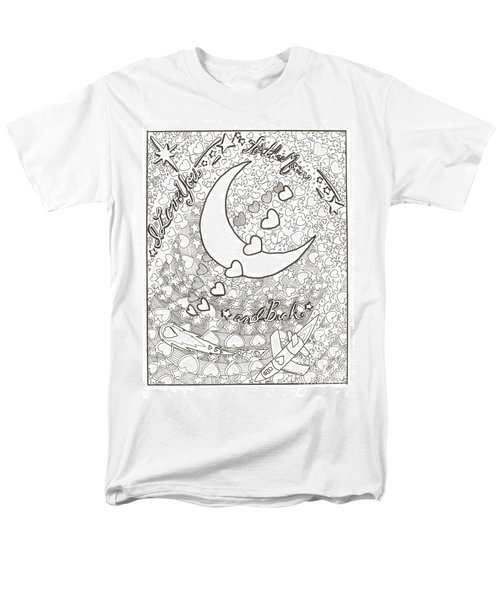 Men's T-Shirt  (Regular Fit) featuring the drawing I Love You To The Moon And Back by Wendy Coulson