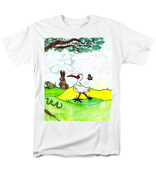 Ibis And Friends Listening Men's T-Shirt  (Regular Fit)