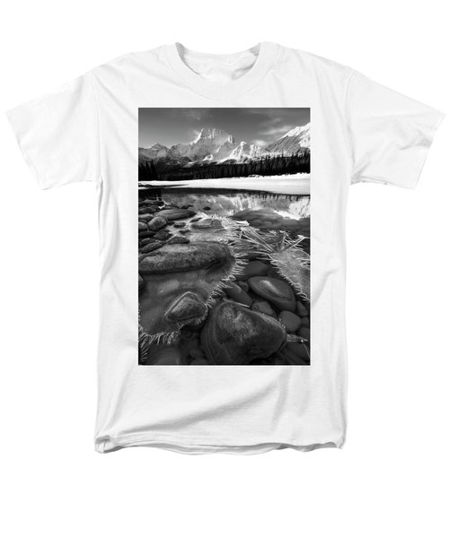 Men's T-Shirt  (Regular Fit) featuring the photograph Ice On The Athabasca by Dan Jurak