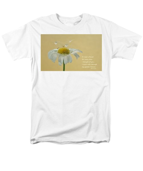 If I Had A Flower Quote Men's T-Shirt  (Regular Fit) by Barbara St Jean