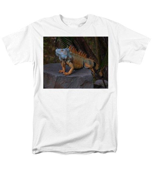 Men's T-Shirt  (Regular Fit) featuring the photograph Iguana 2 by Jim Walls PhotoArtist