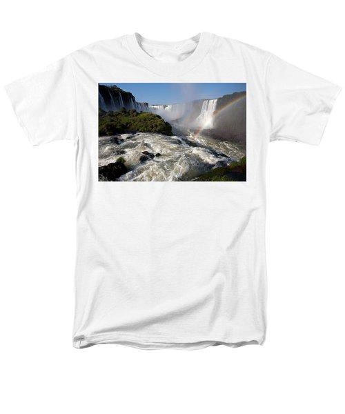 Iguassu Falls With Rainbow Men's T-Shirt  (Regular Fit)