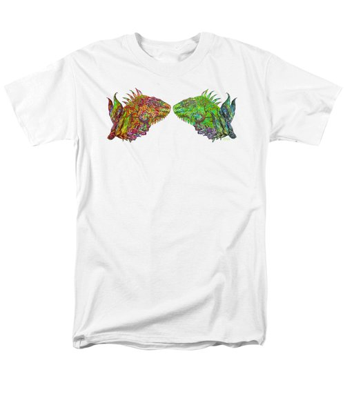 Men's T-Shirt  (Regular Fit) featuring the mixed media Iguana Love by Carol Cavalaris
