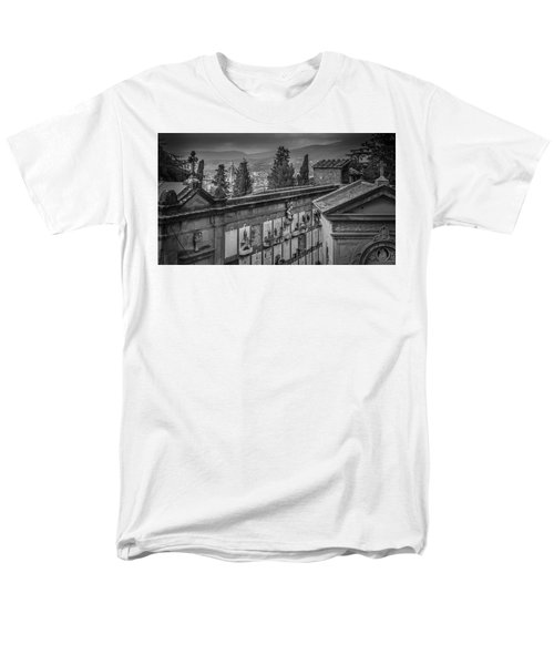 Men's T-Shirt  (Regular Fit) featuring the photograph Il Cimitero E Il Duomo by Sonny Marcyan