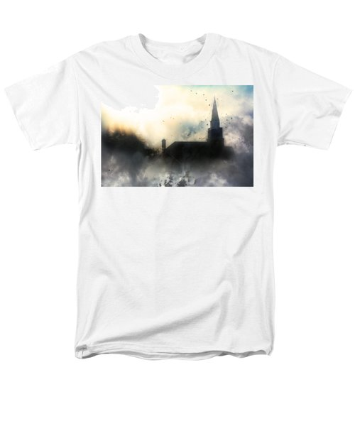 Men's T-Shirt  (Regular Fit) featuring the painting I'll Fly Away by Gray  Artus