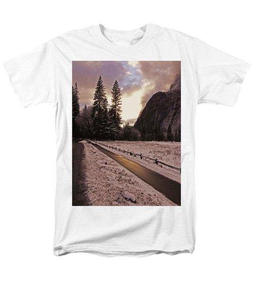 In Between Snow Falls Men's T-Shirt  (Regular Fit) by Walter Fahmy