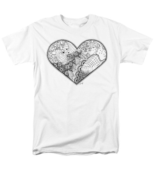 Men's T-Shirt  (Regular Fit) featuring the drawing In Motion by Ana V Ramirez