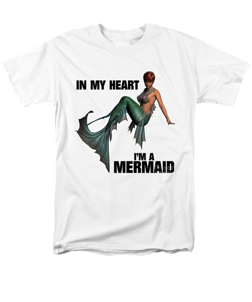 In My Heart I'm A Mermaid Men's T-Shirt  (Regular Fit) by Esoterica Art Agency