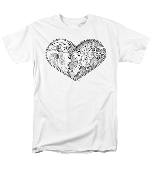 Men's T-Shirt  (Regular Fit) featuring the drawing Repaired Heart by Ana V Ramirez