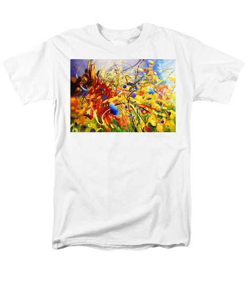 Men's T-Shirt  (Regular Fit) featuring the painting In The Meadow by Georg Douglas
