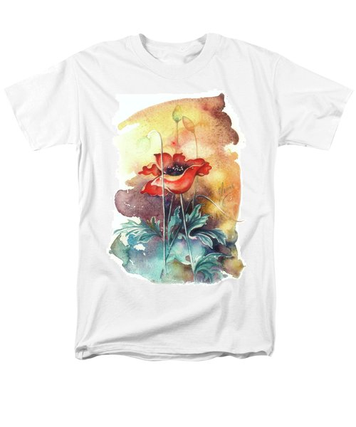 Men's T-Shirt  (Regular Fit) featuring the painting In The Turquoise Coat by Anna Ewa Miarczynska
