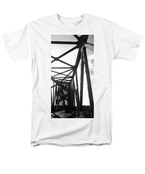 Men's T-Shirt  (Regular Fit) featuring the photograph Indefinite Sight Bw by Jamie Lynn