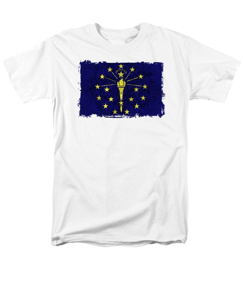 Indiana Flag Men's T-Shirt  (Regular Fit) by World Art Prints And Designs