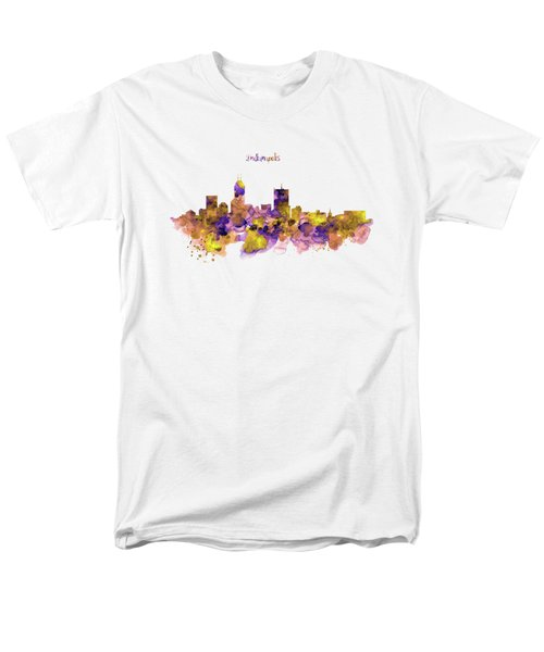 Indianapolis Skyline Silhouette Men's T-Shirt  (Regular Fit) by Marian Voicu