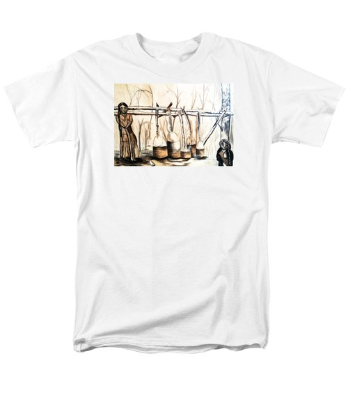 Indians Making Maple Sugar. Cass Lake. 1905  Men's T-Shirt  (Regular Fit) by Ayasha Loya