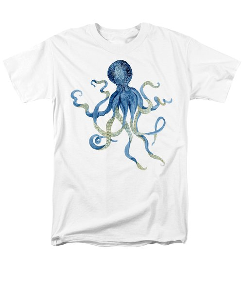 Indigo Ocean Blue Octopus  Men's T-Shirt  (Regular Fit)