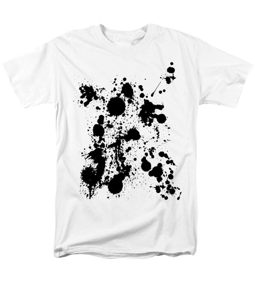 Men's T-Shirt  (Regular Fit) featuring the photograph Ink Spattered All Over by Menega Sabidussi