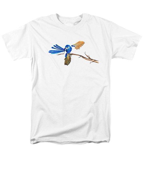 Inked Blue Fairy Wren Men's T-Shirt  (Regular Fit) by Lorraine Kelly